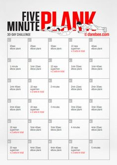 Five Minute Plank 30 Day Challenge.