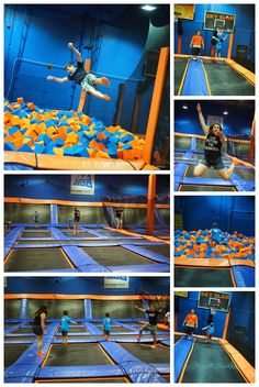 This place is awesome. I brought my nieces here. You can play basketball, dodge ball, and do tons of other things on trampolines.