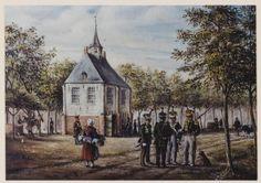 Schilderij. Oisterwijk. Mariakapel/raadhuis aan De Lind.