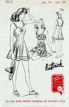 1940s 40s beachwear playsuit bra top skirt shorts vintage