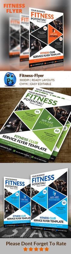 Fitness Flyer Adobe photoshop, Adobe and Sports - fitness flyer