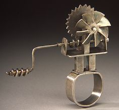 'Self-Fanning Ring' by Sarah Doremus #kinetic #silver #jewelry