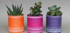 ¡Te damos unas ideas de decoración con latas recicladas para que reconsideres el enviarlas a la basura!