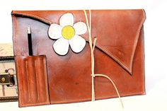 Handmade Leather iPad Tablet case clutch by BespokeLeatherCraft
