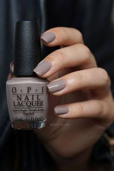 The trendiest fall nail colors + fall nails inspiration 131 Opi Nail Colors, Fall Nail Colors, Nail Lacquer, Super Nails, Opi Nails, Gorgeous Nails, Manicure And Pedicure, Pedicures, Trendy Nails