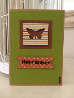 Happy bday butterfly card