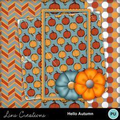 Digital Scrapbooking Kits | Hello Autumn-(LinsCre) | Family, Memories, Nature, Seasons - Autumn | MyMemories