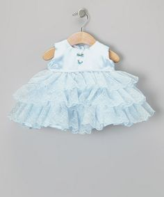 Look what I found on #zulily! Light Blue Ruffle Tier Dress - Infant by Sweet Pattis #zulilyfinds