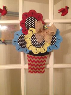 Burlap Door Hanger on Etsy, $30.00