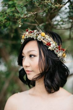 Pretty boho floral crown: http://www.stylemepretty.com/australia-weddings/new-south-wales-au/2016/01/19/boho-chic-outdoor-town-farm-wedding/ | Photography: Studio Something Photography - http://studiosomething.com/