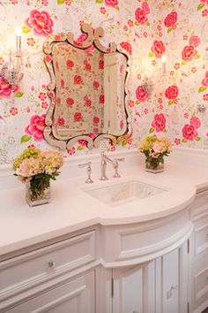 would be so sweet for a little girls bathroom! Hamptons in the Country traditional bathroom