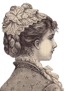 vintage engraving lady's style 1880s