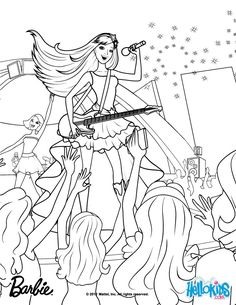 Keira The Popstar Coloring Page More Barbie Princess Pages On Hellokids