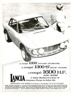 Publicité Lancia - Virage auto - octobre 1970.