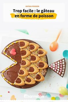 Gâteau poisson au chocolat - The Best Baby Recipes Baby Food Recipes, Meat Recipes, Cake Recipes, Birthday Cake For Him, Birthday Kids, Sweets Cake, Cakes For Boys, Kids Meals, Cake Decorating