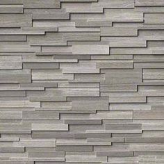 Layer on the texture for a high-style look! Stacked natural stone ledger panels and split face mosaics bring tactile and architectural details to walls you'll love. Create a statement look by transforming an ordinary wall into a stunning feature wall with one of these beauties. Featured: Gray Oak 3D Honed Stacked Stone