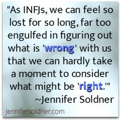 """INFJ: i am ALWAYS thinking about what is """"wrong with me""""!"""