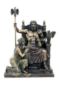 Zeus and Hera on Throne Roman Greek Mythology Statue Pagan Icon WU76068A4 | eBay