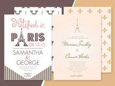 Free estination Wedding Invitation Template - Paris Inspired, free printable…