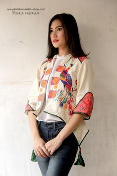 Batik Amarillis's Arcana embroidery jacket .Stand out in the crowd with this un… Batik Fashion, Boho Fashion, Vintage Fashion, Fashion Outfits, Womens Fashion, Fashion Design, Vintage Style, Embroidery Fashion, Embroidery Dress
