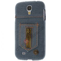 Creative Protective Zipper Jeans Style Case for Samsung Galaxy S4 I9500 US$7.99