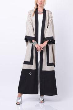 Abaya by Leenaz – Hijab Fashion Abaya Fashion, Muslim Fashion, Kimono Fashion, Modest Fashion, Fashion Outfits, Abaya Designs, Hijab Outfit, Hijab Dress, Dubai Fashionista