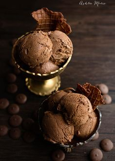 This Dark Chocolate Ganache Ice Cream is rich, smooth and the best bite of ice cream you will ever have. I include tips and tricks for how to make perfect custard based ice cream recipes Dark Chocolate Ice Cream, Decadent Chocolate, Best Chocolate, Chocolate Truffles, Chocolate Ganache, Chocolate Lovers, Chocolate Recipes, Dessert Chocolate, Delicious Chocolate
