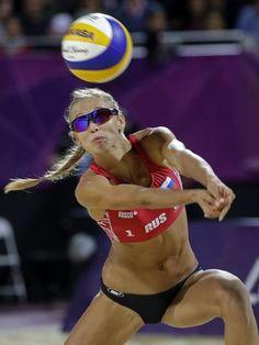 Anastasia Vasina (RUS) - vôlei de praia  Foto: AP