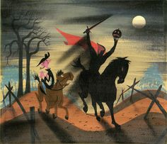 Mary Blair's concept art for 'The Legend of Sleepy Hollow' (1949)