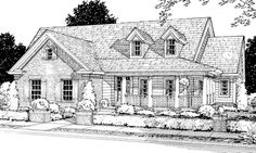 #655825 - 3 Bedroom 2 Bath Country Farmhouse with open floor plan : House Plans, Floor Plans, Home Plans, Plan It at HousePlanIt.com