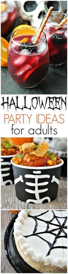 Easy Halloween Party Ideas for Adults, including festive drinks, make-ahead recipes, and shortcuts for easy and fun decor! #ad #DiabloHalloween #contest