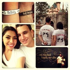 Disney Couple - This is so cute! <3 Aww. I want to infinity and beyond bracelets!