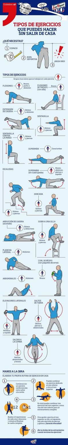 ¿No tienes tiempo de ir al gimnasio? ¡No hay problema! También puedes hacer ejercicios desde casa.