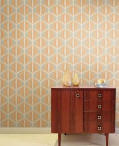 Vintage Wallpaper Retro and Designs Mod Hippie Wall Art Home Decor Wall Paper Sold per Roll of 11 yards Plain Wallpaper, Orange Wallpaper, Retro Wallpaper, Geometric Wallpaper, Pattern Wallpaper, Wall Wallpaper, Motif Vintage, Vintage Room, Vintage Stil