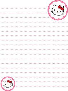 Pink Hello Kitty Stationery Printable Treats