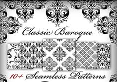 A little collection af some Classic baroque patterns for photoshop. I hope you enjoy the baroque patterns. Web Design, Graphic Design Tools, Tool Design, Design Elements, Free Photoshop Patterns, Photography Templates, Photography Tutorials, Baroque Pattern, Japanese Patterns