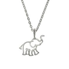 {Elephant Charm Necklace} Samantha Faye - the trunk is happily upright, bringing good luck!