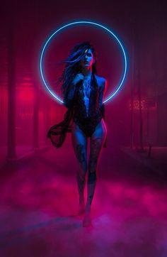 #cyberpunk #art #graphic #future Unknown — Neon Witch
