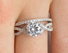 Split Shank Engagement Ring Prong Set Engagement by barargent