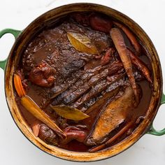 You know those dishes that everyone says taste even better if you make them ahead of time? This is a perfect example. The flavors continue to deepen as the braise sits, and it's that much easier to skim the surface when the sauce has a chance to chill.