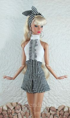 THE GIRLS of SUMMER in Black for Poppy Parker, Silkstone and Victoire dolls