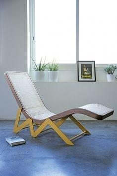 chaise longue intérieur vintage RAKWE