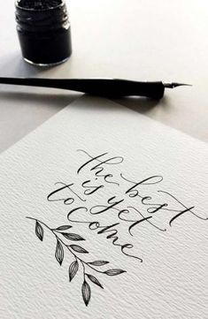 DIY Wedding Invitations: 10 Unusual Ways to Do it Yourself DIY einladungskarten für die Hochzeit<br> Looking for an interesting and unique way to DIY your wedding invitations? We have 10 fabulous techniques that almost anyone can master. Calligraphy Doodles, Calligraphy Handwriting, Calligraphy Letters, Modern Calligraphy Quotes, Islamic Calligraphy, Penmanship, Calligraphy Flowers, Modern Caligraphy, Calligraphy Artist