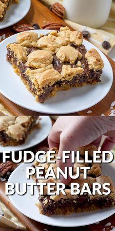 Peanut Butter Dessert Recipes, Peanut Butter Bars, Cake Mix Recipes, Brownie Recipes, Baking Recipes, Cookie Recipes, Peanut Butter Nutella Cookies, Peanut Recipes, Bar Recipes