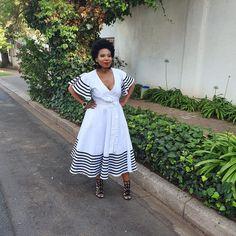 Emo Fashion, Fashion Dresses, Shweshwe Dresses, African Traditional Dresses, African Print Fashion, Shalwar Kameez, African Dress, Xhosa, Tony Ward