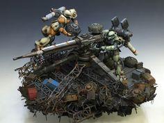 GUNDAM GUY: Gundam Thunderbolt [Zaku Big Gun] - Diorama Build