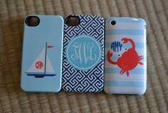 Monogrammed Phone Cases. I wish i had an iPhone..