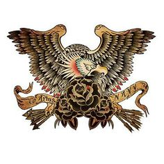 U.S. Navy American Eagle Tattoo American Traditional ( light's only )