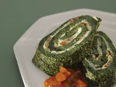 Spinach, Pancetta and Blue Cheese Roulade with Castello® Extra Creamy Blue Cheese #entree #bluecheese #recipe