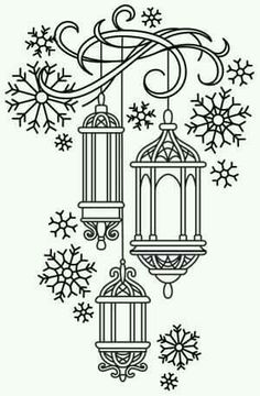 T T snowflakes and baubles like bird cages